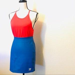 NWT Adidas Blue Vegan Leather Skirt